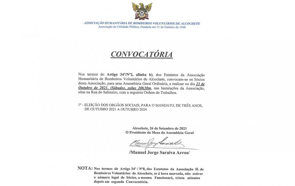 Assembleia Geral 2021 - Convocatória